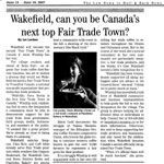 Wakefield, can you be Canada's next top Fair Trade Town?