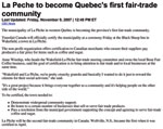 La Pêche to become Quebec's first fair trade community